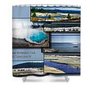 Yellowstone Park August Panoramas Collage Shower Curtain