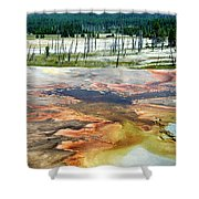 Yellowstone Park Firehole Spring Area Vertical 02 Shower Curtain