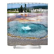 Yellowstone Park Firehole Spring In August 02 Shower Curtain