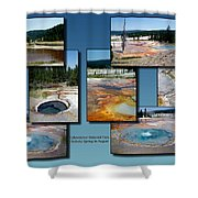 Yellowstone Park Firehole Spring In August Collage Shower Curtain