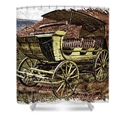 Yellowstone Park Stage Coach With Horses Pa 01 Shower Curtain