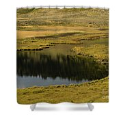 Yellowstone River Pond Shower Curtain