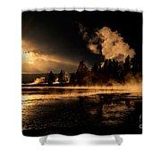 Yellowstone River Sunrise Shower Curtain