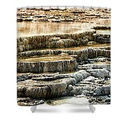 Yellowstone Rock Formation Shower Curtain