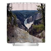 Yellowstone Water Fall Shower Curtain