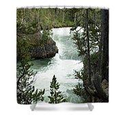 Yellowstone Waterfall Shower Curtain