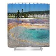 Yellowstone's Firehole Shower Curtain