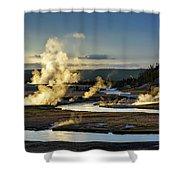 Yellowstone's Midway Geyser Basin  Shower Curtain