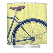 Yelow Bike Shower Curtain