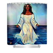 Yemaya- Mother Of All Orishas Shower Curtain