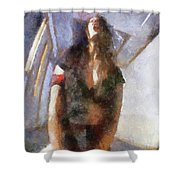 Yes By Mary Bassett Shower Curtain