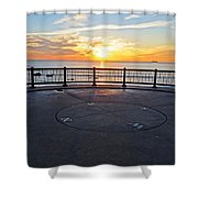 Yes, The Sun Rises To The East Red Rock Park Lynn Shore Drive Shower Curtain