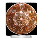 Yesirah Copper Lightmandala Shower Curtain