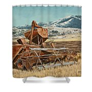 Yesterday I Was Tired, Today I Am Retired. Shower Curtain