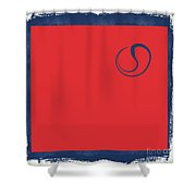 Yin And Yang Blue And Red Shower Curtain