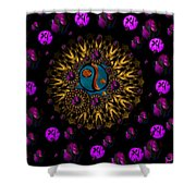Yin And Yang Collage Shower Curtain