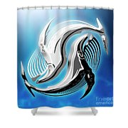 Yin And Yang Whale Shower Curtain