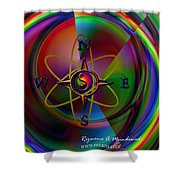 Yin Yang Directions Shower Curtain
