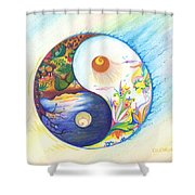 Yin Yang Spring And Autumn Shower Curtain