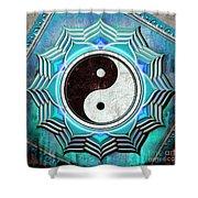 Yin Yang -  The Healing Of The Blue Chakra Shower Curtain