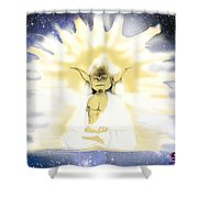 Yoda Budda Shower Curtain
