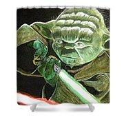 Yoda Fights Shower Curtain