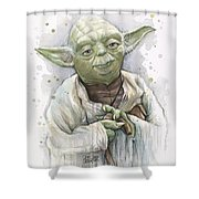 Yoda Shower Curtain