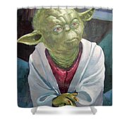 Yoda. Original Acrylic Shower Curtain
