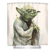 Yoda Portrait Shower Curtain