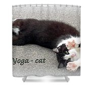 Yoga - Cat Shower Curtain