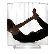 Yoga Bow Pose Shower Curtain