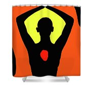 Yoga Lotus Shower Curtain