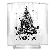 Yoga Meditation 2 Watercolor Print  Shower Curtain