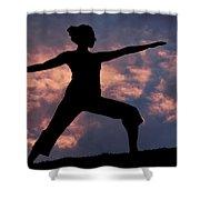 Yoga Sunset Shower Curtain