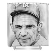Yogi Berra Shower Curtain