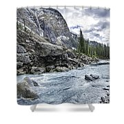 Yoho River At Takakkaw Falls Shower Curtain