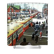 Yonge And Eglinton 1944 Shower Curtain