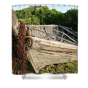 York Boat - Fort Garry Shower Curtain