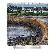 York Breakwater Barry Island Shower Curtain