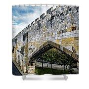 York City Roman Walls Shower Curtain