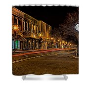 York South Carolina Downtown During Christmas Shower Curtain