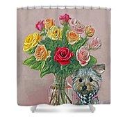 Yorkey Rose Shower Curtain