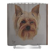 Pickles The Yorkie Shower Curtain