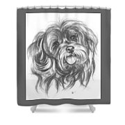 Yorkiepoo Shower Curtain