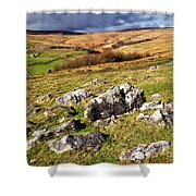 Yorkshire Dales Limestone Countryside Shower Curtain