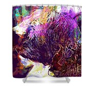 Yorkshire Puppy Domestic Animal  Shower Curtain