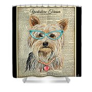 Yorkshire Terrier-jp3856 Shower Curtain