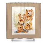 Yorkshire Terrier W/ghost Shower Curtain