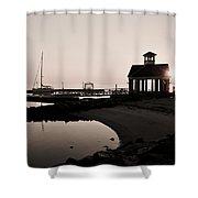 Yorktown Marina Morning Shower Curtain