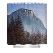 Yosemite Dawn Detail Shower Curtain
